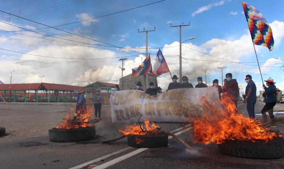 Fuerzas vivas de Colchane piden el cierre total del Complejo Fronterizo de Colchane.